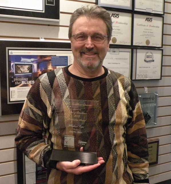 The TechHome Leadership Award is particularly meaningful to Audio Video Interiors owner, Michael A. Pope