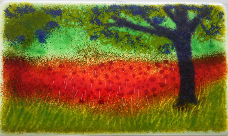 Fused Glass Landscape
