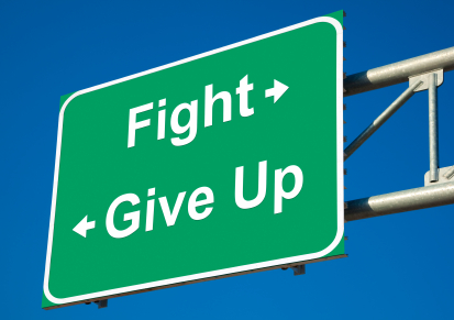Fight or Give Up sign