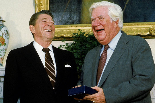 Reagan and O'Neill