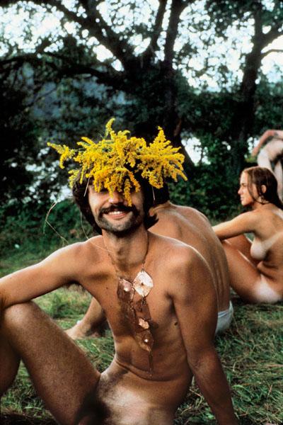 Flowers on head
