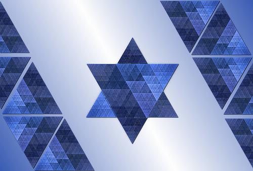Israeli flag mosaic