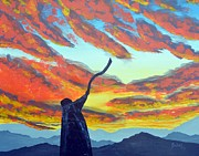 Shofar at sunset