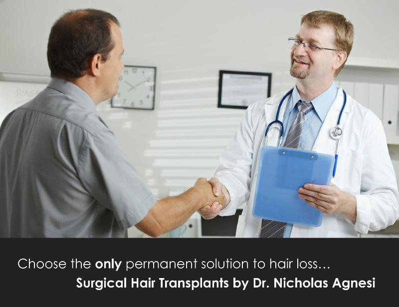 Doctor and Hair Transplant Client