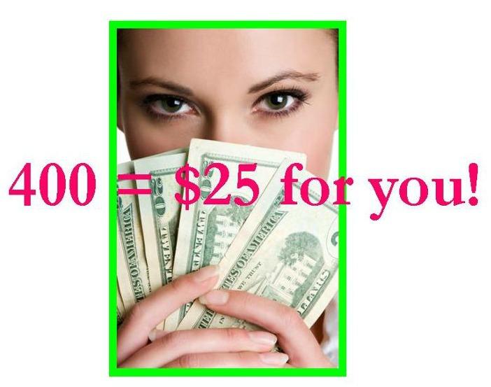 400=$25 promo