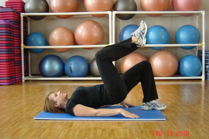glute bridge end