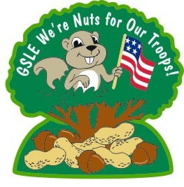 nuts for our troops patch