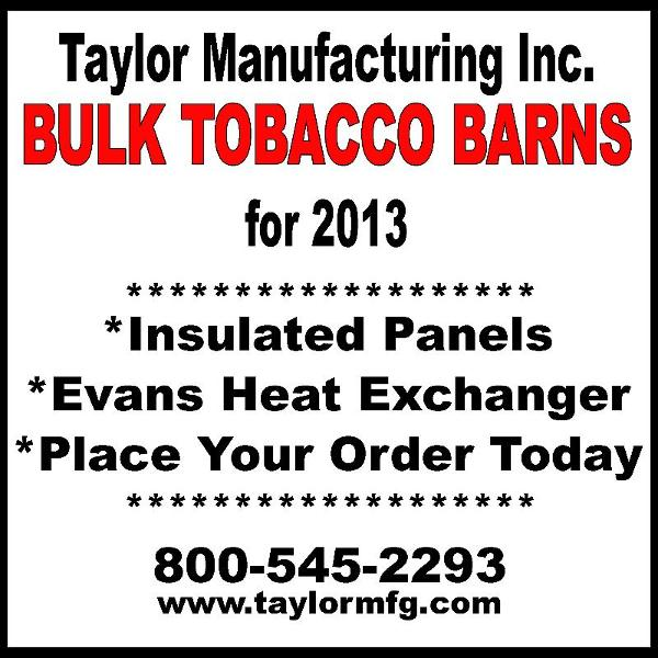Taylor Mfg. Inc. Bulk Tobacco Barns
