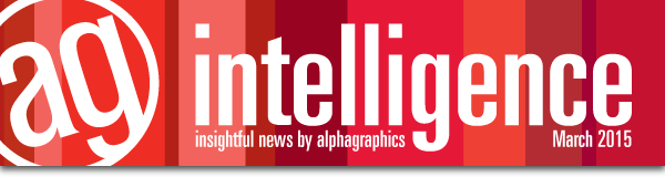 This is the masthead of the AlphaGraphics Newsletter