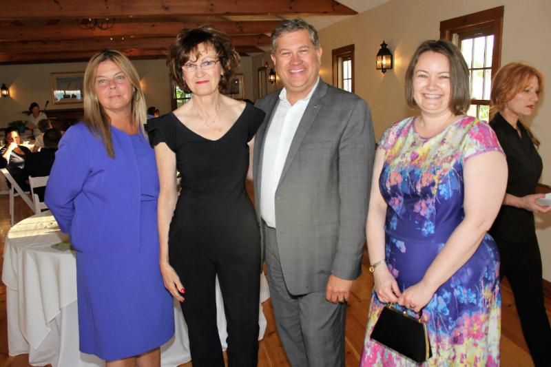 Executive Director Mary Valachovic_ Board Vice-President Pat Cosgrove_ Rep. Matt Muratore and Board Member Leann