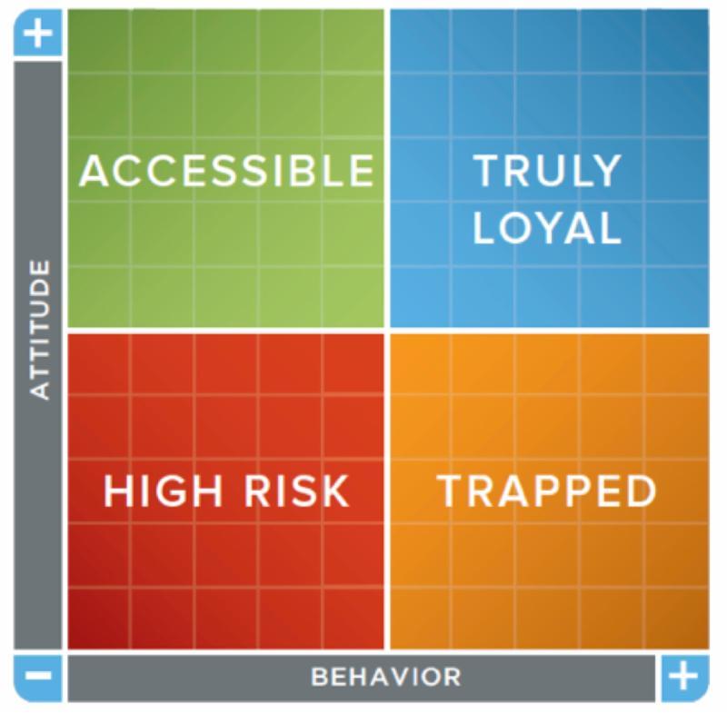 Customer Loyalty Matrix from Walker