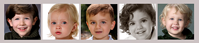 Baby faces composite