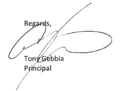 Dr. Larkin Signature