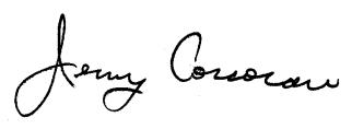 Jerry's signature