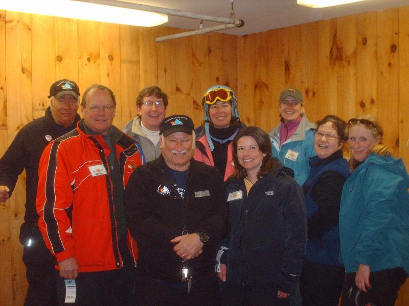 Volunteer Ski Instructors at Camp Sunshine