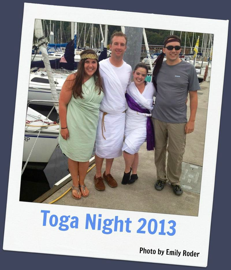 Most spirited sailors in togas (Photo by Emily Roder)