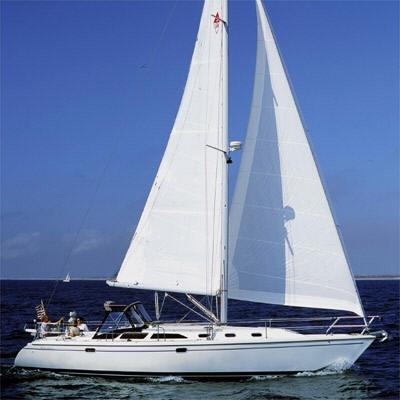 C42 under sail