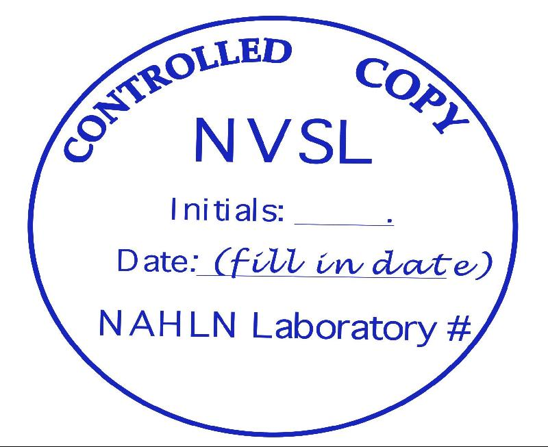 The NAHLN Quarterly - 2009 June Edition Controlled Copy Stamp