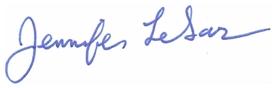 Jennifer LeSar signature