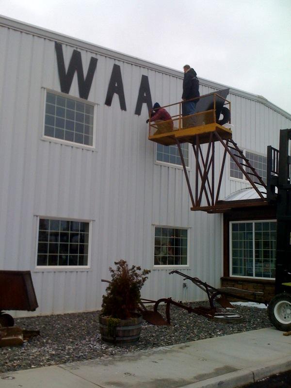 WAAAM Sign installed