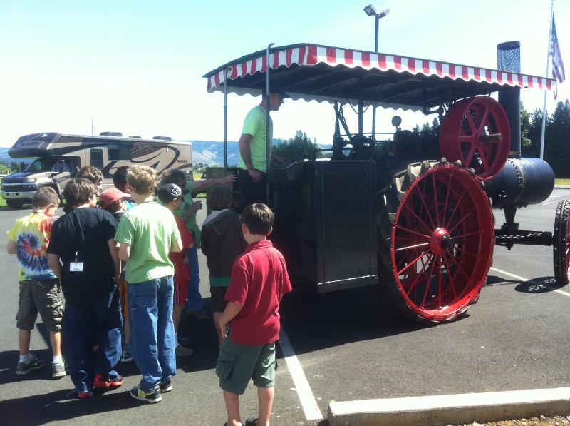 1908 Russell Steam Tractor.