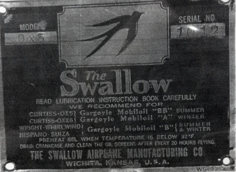swallow Data Plate