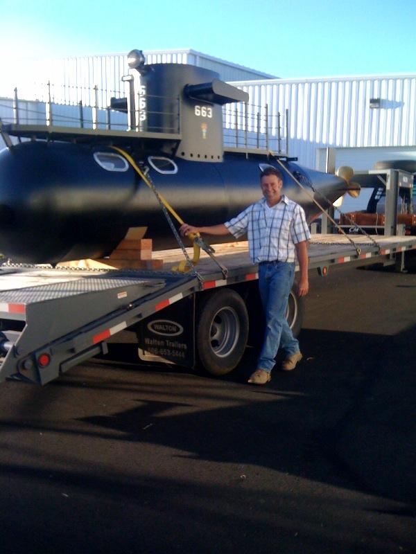 The Kid Submarine arrives at WAAAM