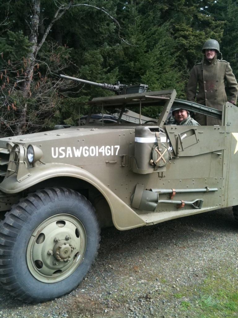 Scout Car filmed for Lost Division