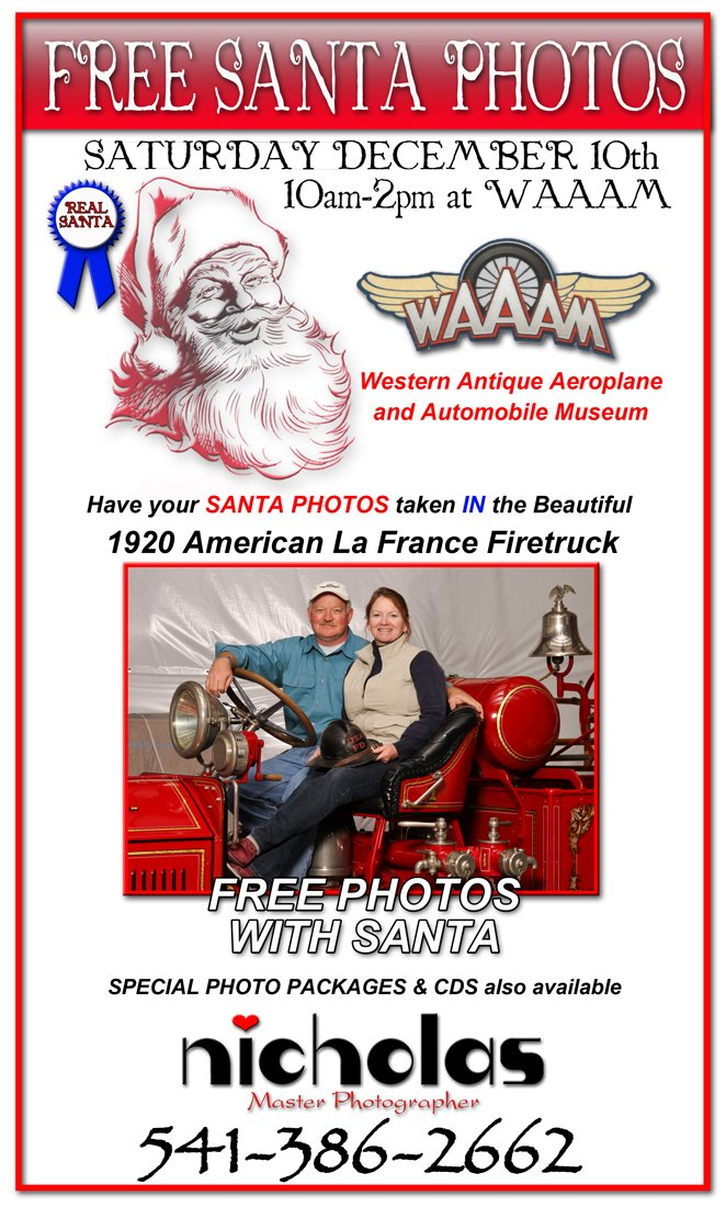 Santa Photos at WAAAM 2011