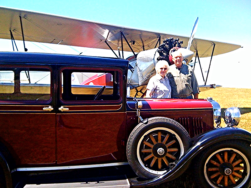 Andersons with their 28 Dodge Bros. Auto