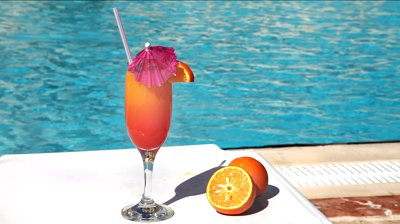 umbrella cocktail by the pool