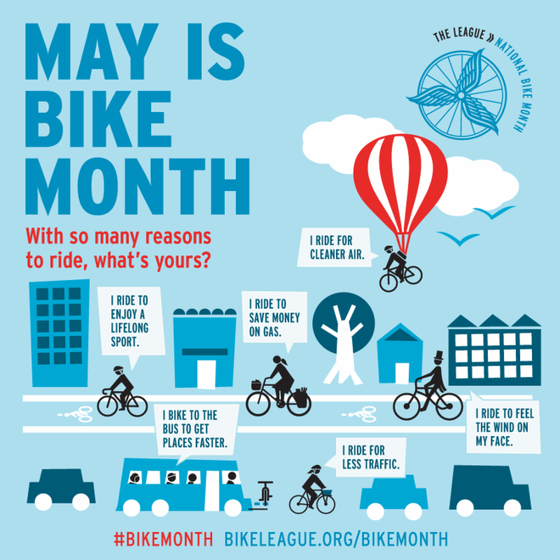 May is  national bike month_
