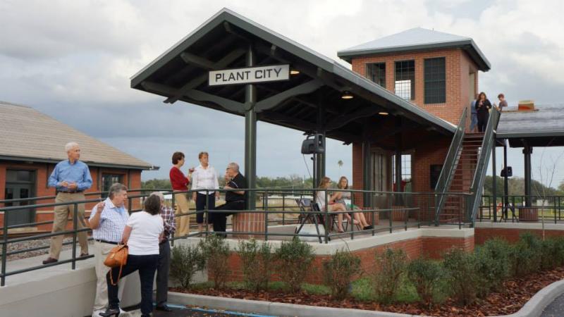 Plant City Train Viewing Platform