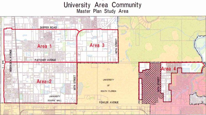 University Area boundary map