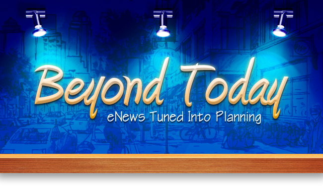 Beyond Today | eNews Tune into Planning banner