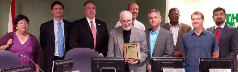 Chair Joe Amon honored by the CAC at the January 2013 MPO CAC meeting.