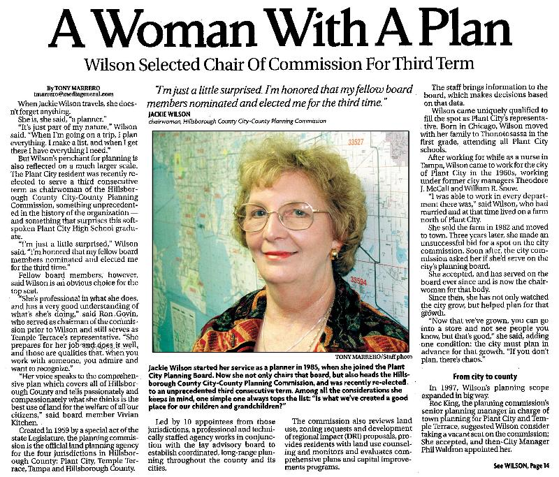 A Woman With A Plan article
