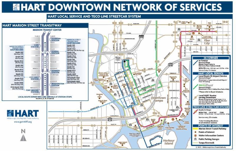 Downtown Transit Map