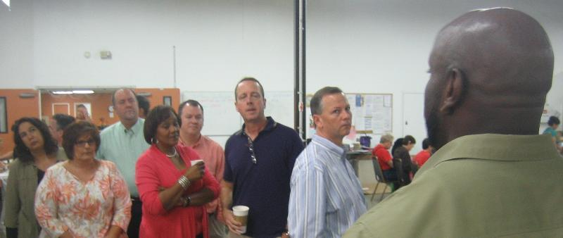 Planning Commissioners on tour of MacDonald Training Center