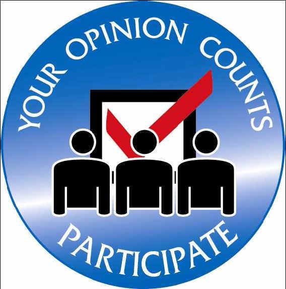 Your opinion counts. Participate!