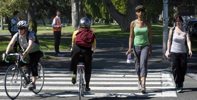 bicyclists and pedestrians