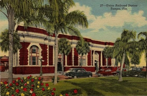 Historic Tampa Union Station post card