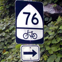 US Bicycle Route System Sign