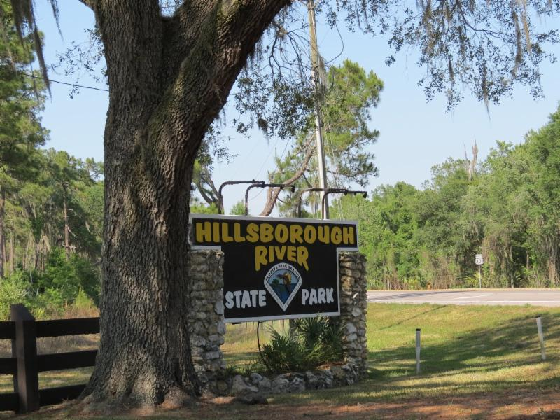 Entrance Sign to Hillsborough River State Park