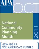 APA National Community Planning Month logo