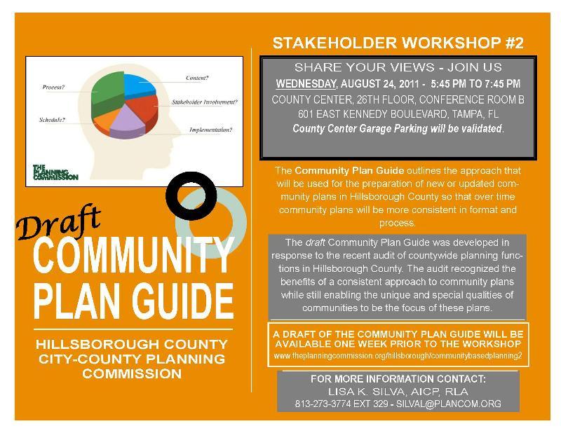 Community Plan Guide Stakeholder Workshop 2 flyer