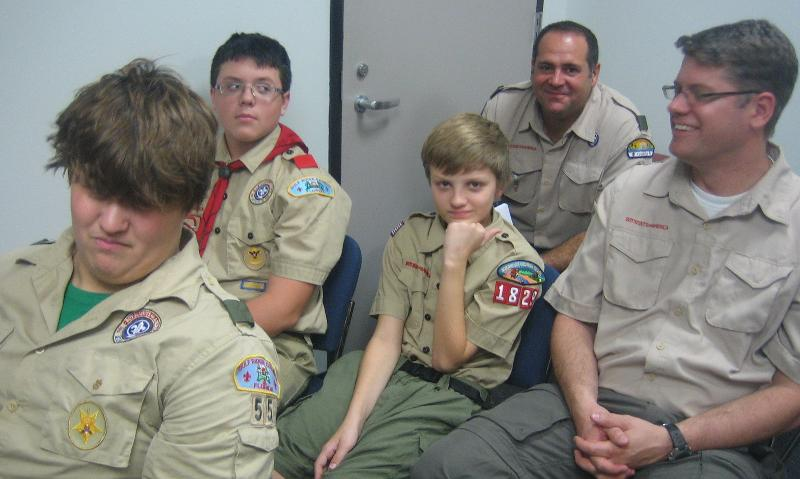Young scouts from the Keystone-Odessa Community attend the Community Plan Public Hearing.