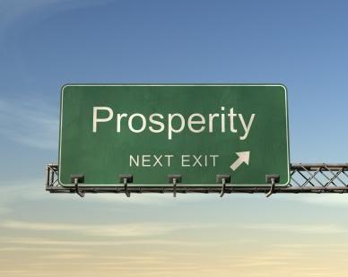 Prosperity road sign