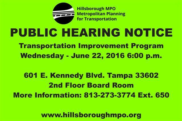 MPO Public Hearing Notice