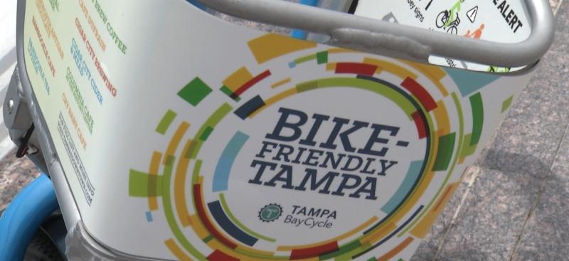 Bike Basket with Bike Friendly Tampa Logo
